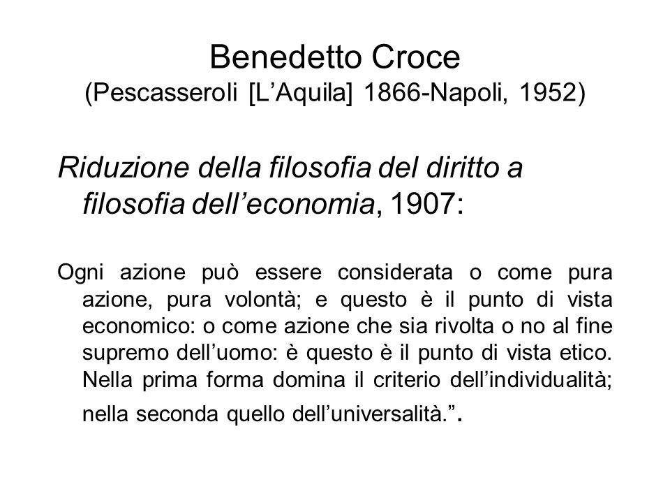 Benedetto Croce (Pescasseroli [L'Aquila] 1866-Napoli, 1952)